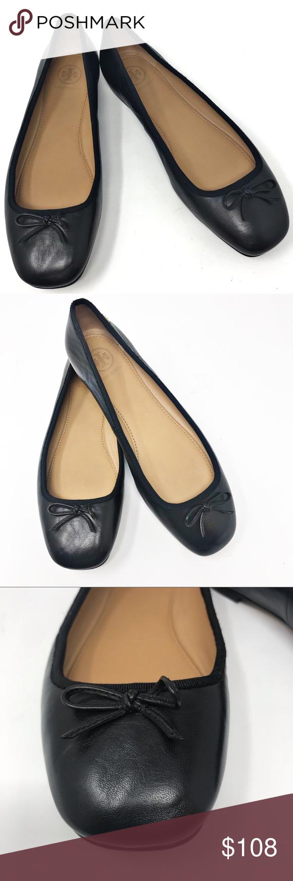 2d2e22a6d8b Tory Burch Laila 2 Black Leather Ballet Flat 7.5 Tory Burch Laila 2 Perfect  Black Leather