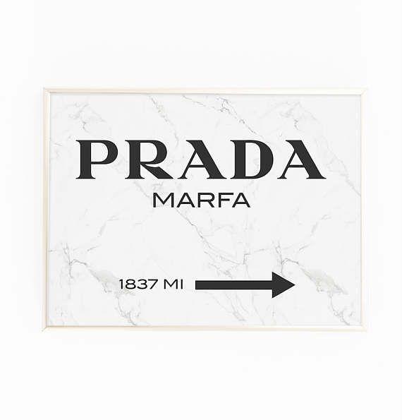 Print Poster \'Prada Marfa\' Wall Art Modern | apartment | Pinterest ...