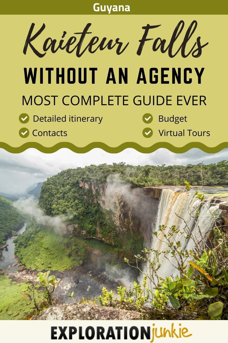 Kaieteur Falls, Guyana - Ultimate Guide To Visiting It Independantly -  An exceptional overland trip to Kaieteur Falls, in the heart of the rainforests of Guyana, South America. This is probably the most complete guide to Kaieteur Falls you can find on the internet, with detailed step-by-step itinerary, GPS positions, contacts, budget and even the world's first virtual tours of the area! #travel #traveltips  Source by erikabisbocci  -