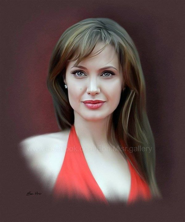 Angelina Jolie  Digital Drawing by Ebn Misr (Egypt)