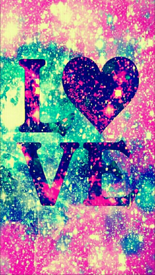 Love Wallpaper For Galaxy E7 : Love glitter galaxy iPhone/Android wallpaper I created for the app cocoPPa. fondos Pinterest ...