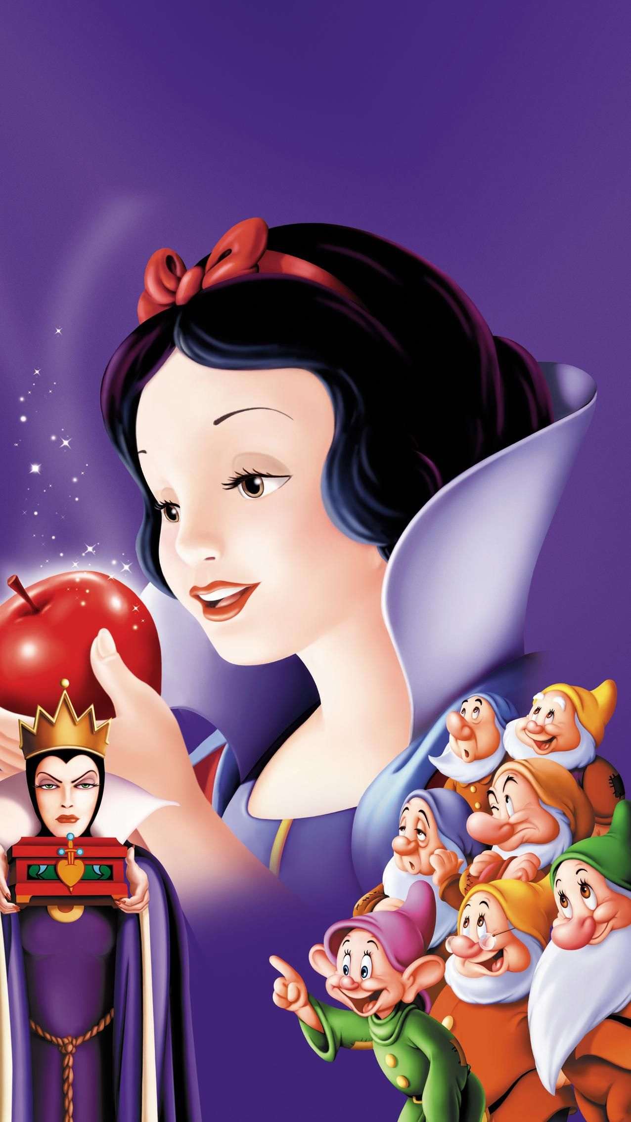 Snow White and the Seven Dwarfs (1937) Phone Wallpaper in