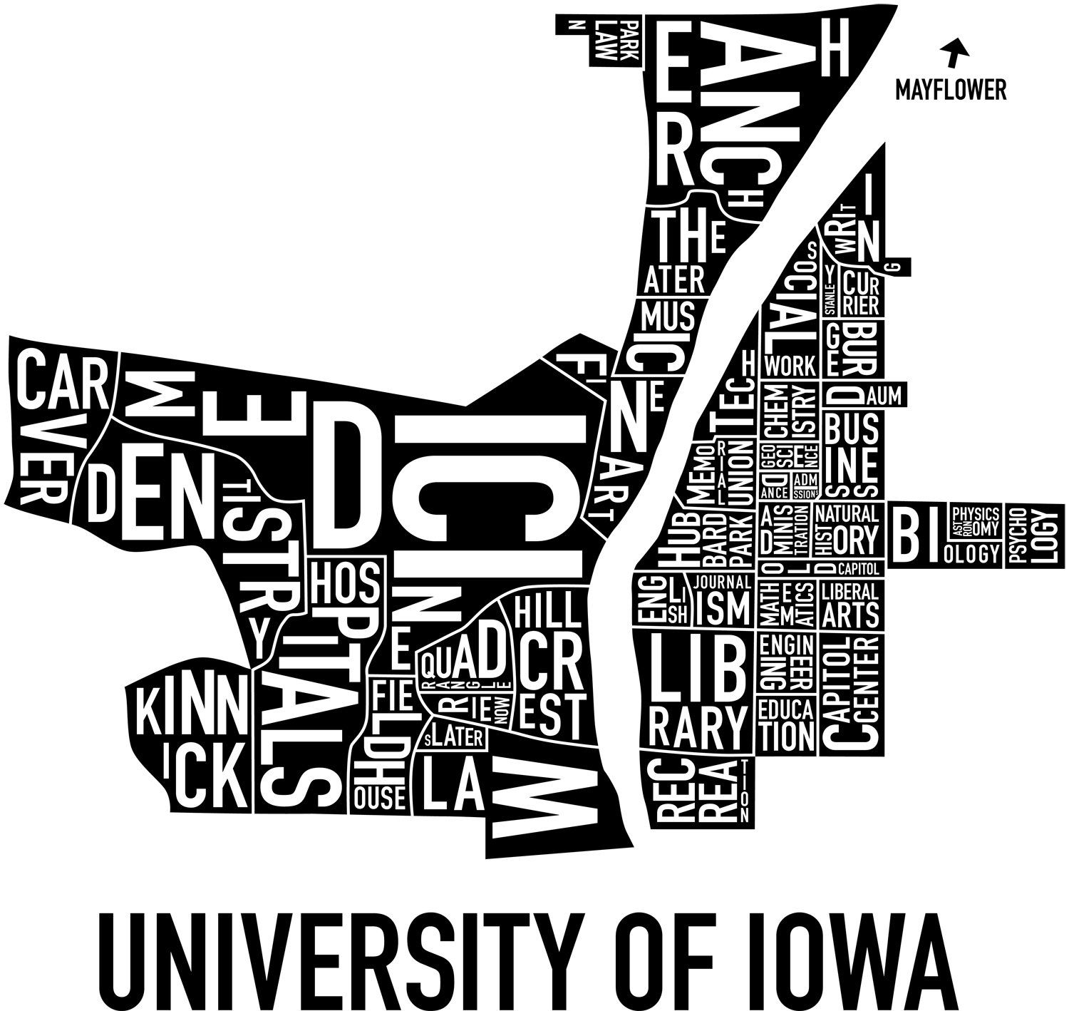 Ork Map Of The University Of Iowa Campus Eye Candy Iowa