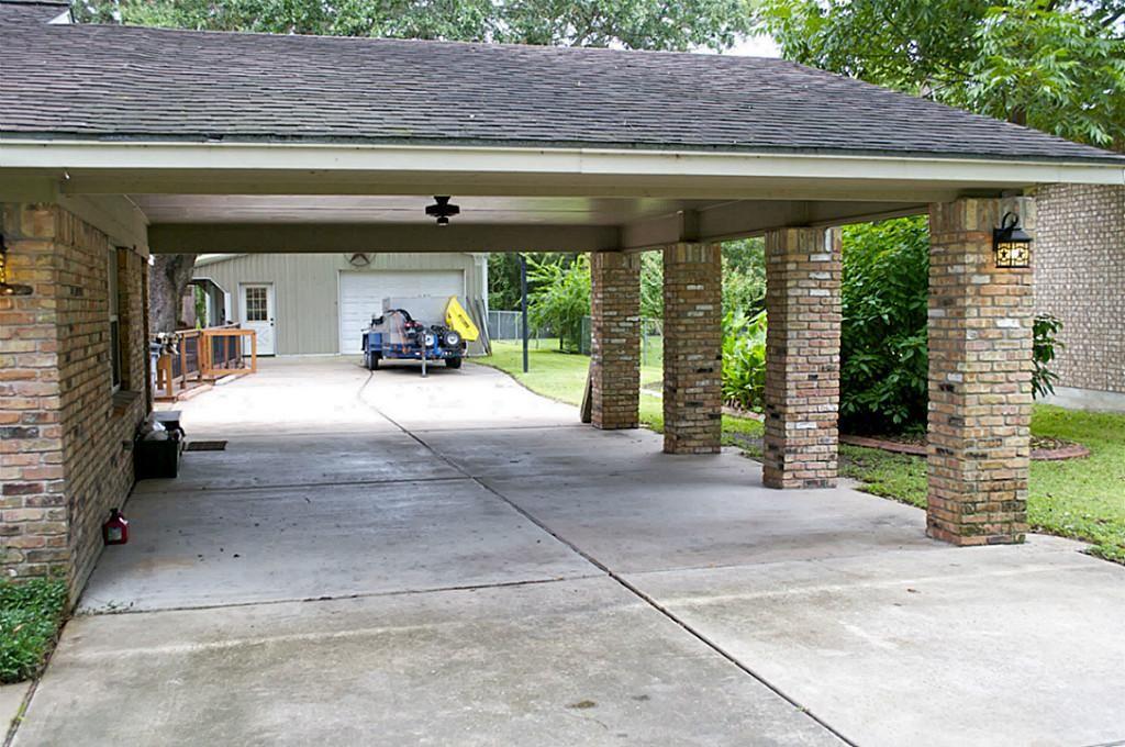 Porte Cochere / carport House exterior, Patio, Pearland