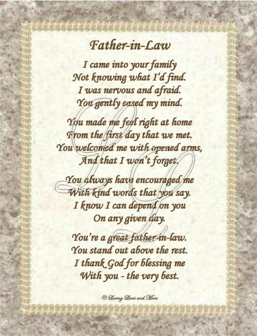 So Blessed To Have A Genuine Loving Loyal Father In Law Law