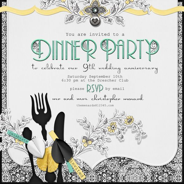 dinner invitation sample invitation sample pinterest