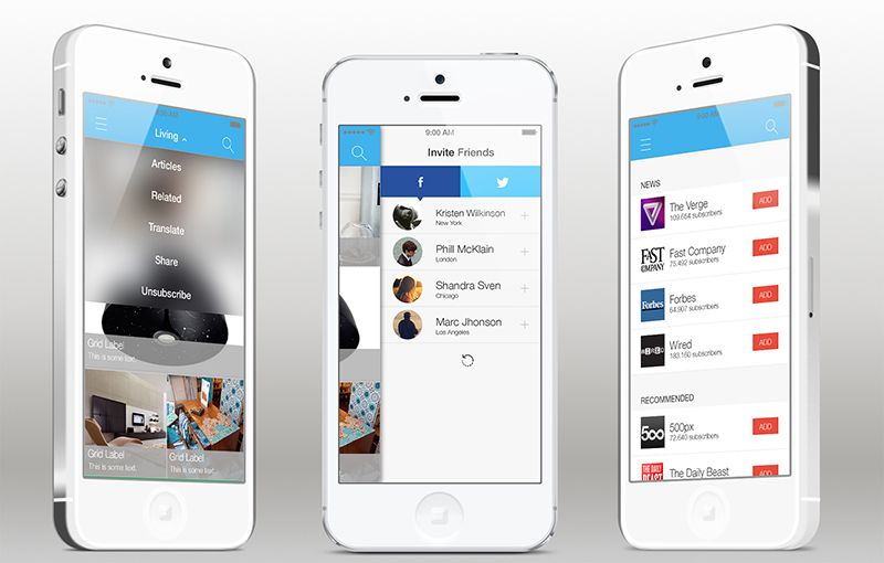 custom ios tableview examples | Add News, RSS and WordPress feeds ...
