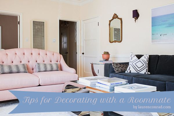 Living Together Tips For Decorating With A Roommate