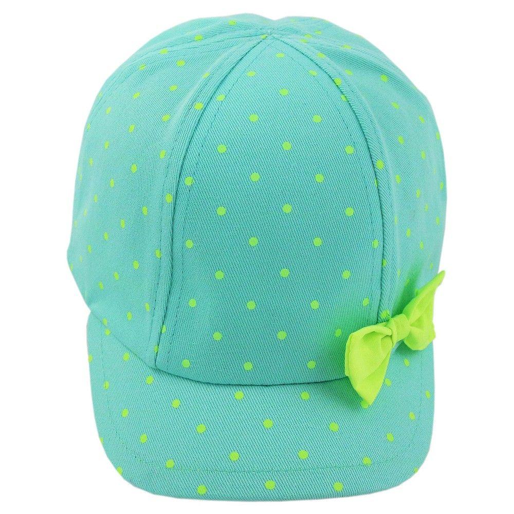da2d1002c84 Toddler Girls  Dot Baseball Hat with Bow - 12-24M - Cat   Jack ...