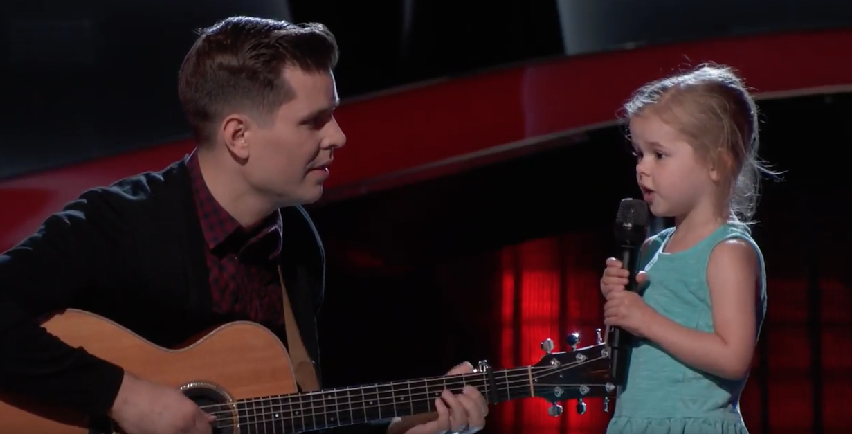 This Adorable 4-Year-Old Singing With Her Dad on 'The Voice