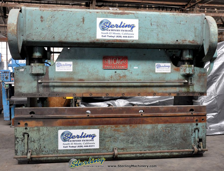 Used Chicago Mechanical Clutch Press Brake Sterling Machinery Press Brake Hydraulic Press Brake Metal Working