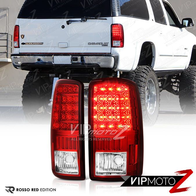 00 06 Chevrolet Tahoe Suburban Gmc Yukon Xl Red Led Smd Brake Tail Lights Lamps Chevrolet Tahoe Gmc Yukon Gmc Yukon Xl