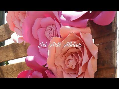 Flores em EVA Gigantes - Completo - YouTube