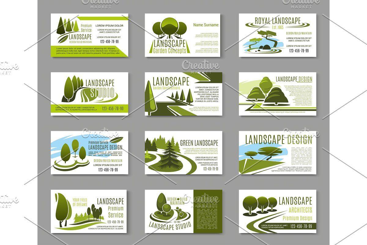 Landscape Design Studio Business Card Template Landscaping Business Cards Free Business Card Templates Card Template