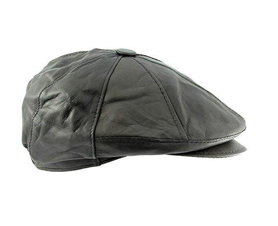 55e3ada4a1b Mens Geniune Lambskin Leather Vintage Newsboy cabbie Hat (Dark Brown)(Small Medium)  at Amazon Men s Clothing store