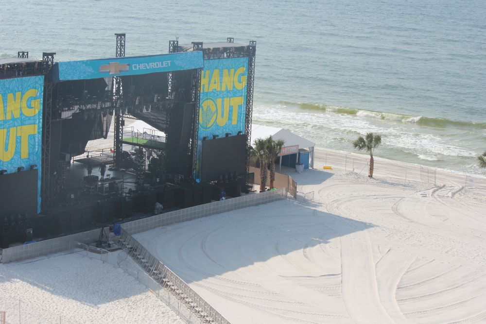 The beach looks great for day two of the Hangout Music Festival in Gulf Shores!