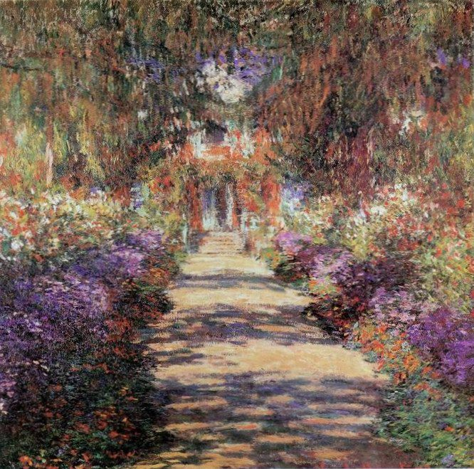 Claude Monet Oil Painting #114:Impressionism White Picket Fence ...