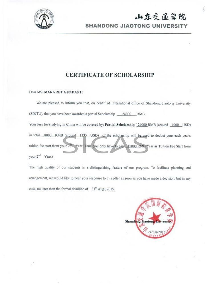 Sicas Which Makes My Dream To Study In China Possible  Grateful