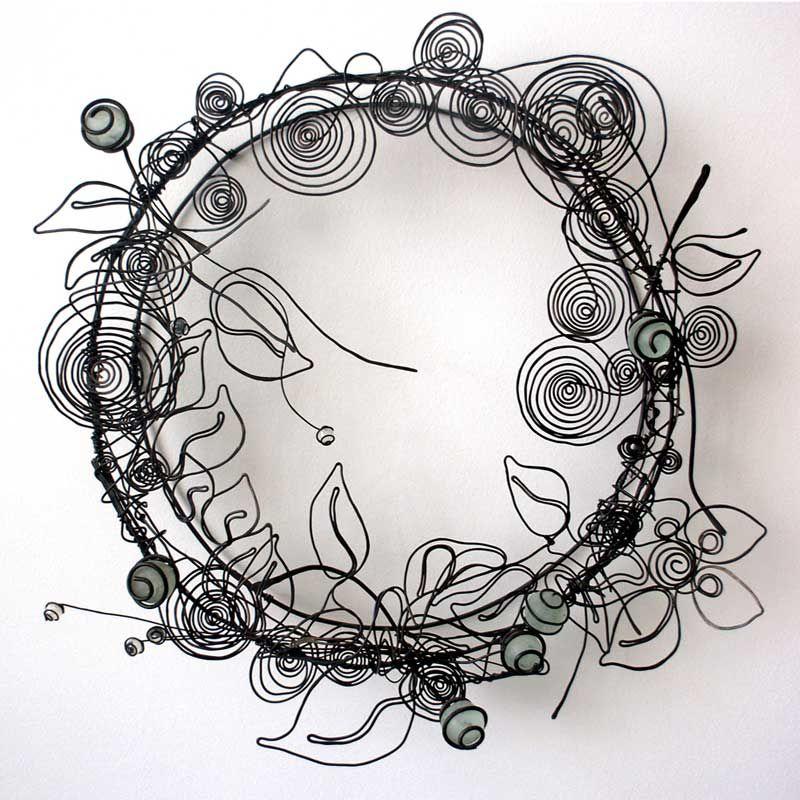 marco de espejo en alambre   alambre atrapasueños   Pinterest ...