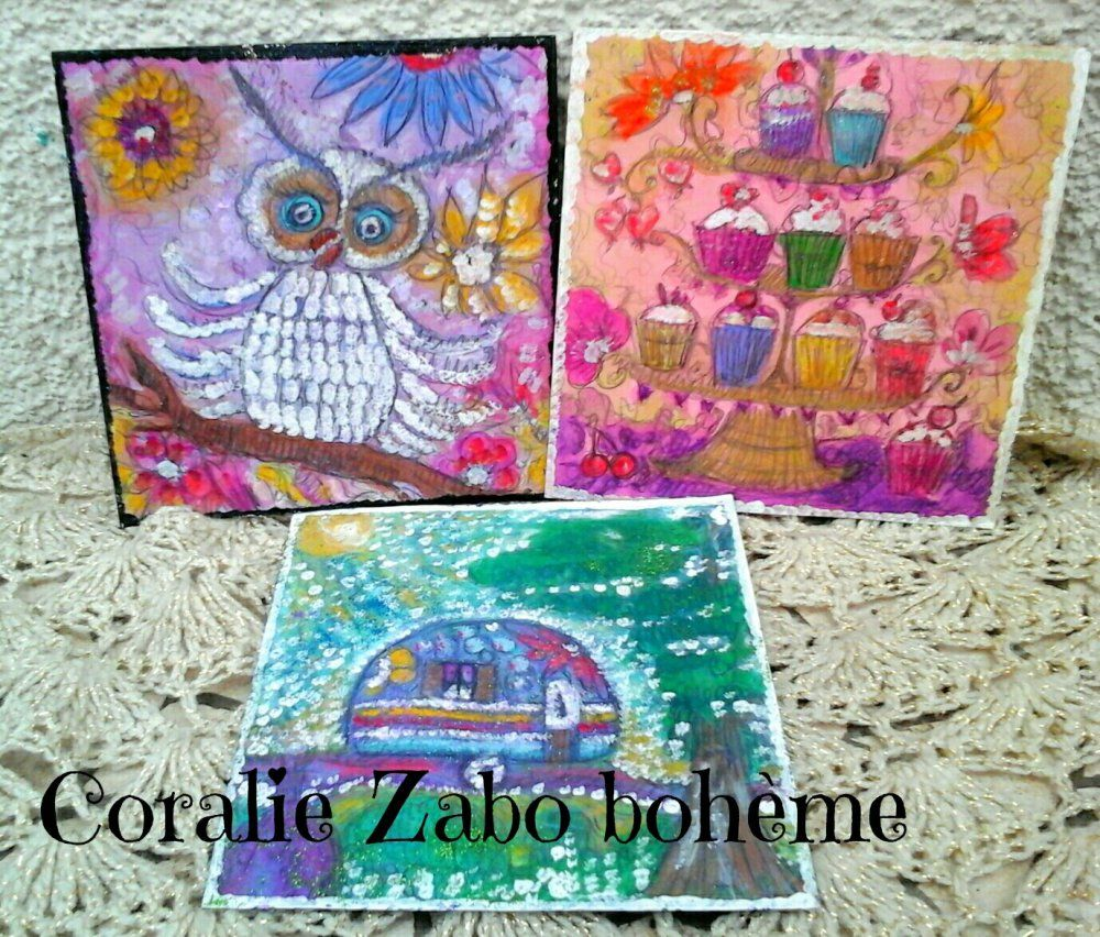 Carte D Art Carte Peinte A La Main En Peinture Aquarelle