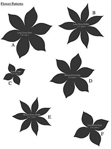 Flat paper flower pattern paper flower patterns pinterest flat paper flower pattern mightylinksfo
