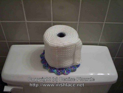 Free Crochet Toilet Paper Cover Pattern Found At Ravelry From Http