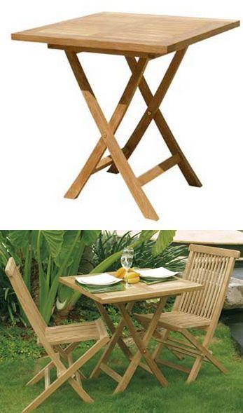 Tavoli Pieghevoli Per Balconi.Tavolino Quadrato Pieghevole In Teak Singaraja 70x70x75 Art