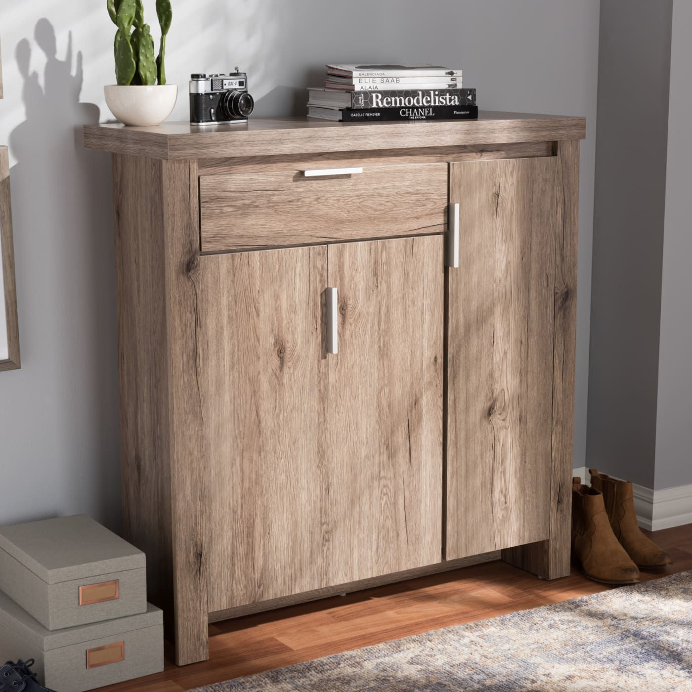 The Fresh Natural Look Of The Laverne Shoe Cabinet Makes It An Ideal Addition To Your Home Shoe Storage Cabinet Rustic Storage Cabinets Storage Cabinet