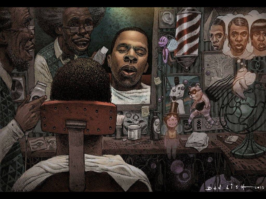 Jay Z By Dan Lish Hip Hop Art Cartoon Art Black Artwork