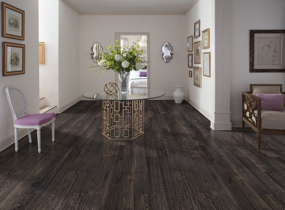 Love the taupe flooring in this mudroom luxury vinyl plank lvp
