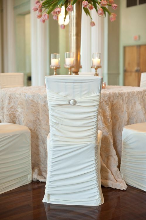 Fabulous Ribbed Stretch Chair Cover With Rhinestone Buckle Cloth Evergreenethics Interior Chair Design Evergreenethicsorg