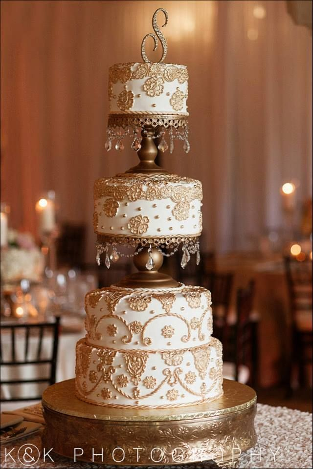 Gold Lace On Wedding Cake Google Search Wedding Cakes In 2018