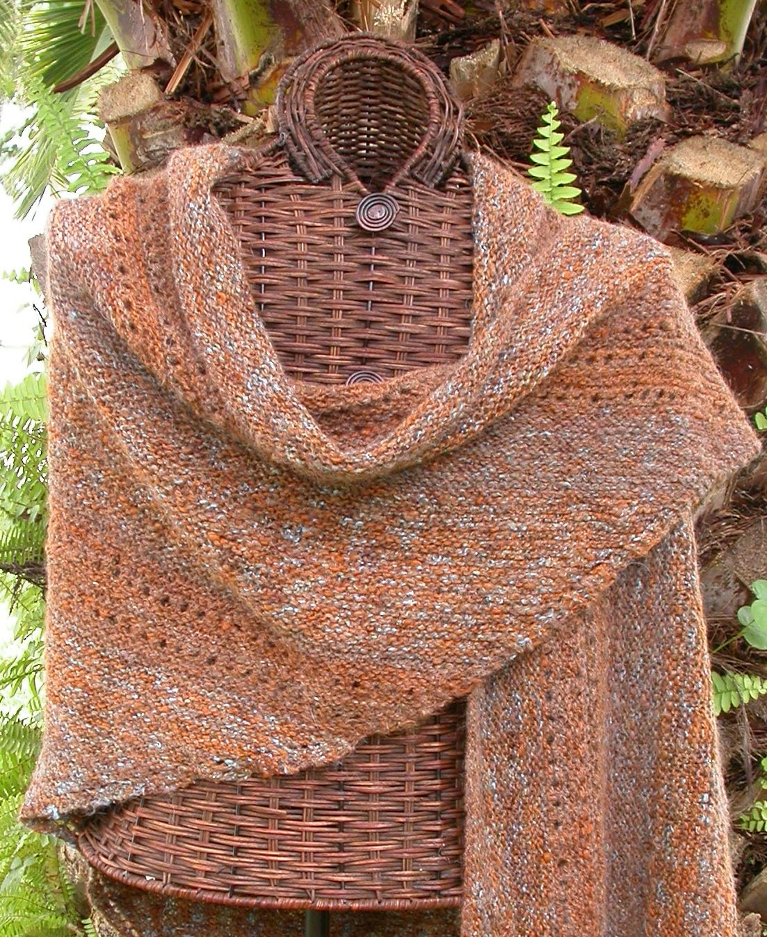 Simple Knitted Prayer Shawl Pattern | ... pattern for this shawl ...