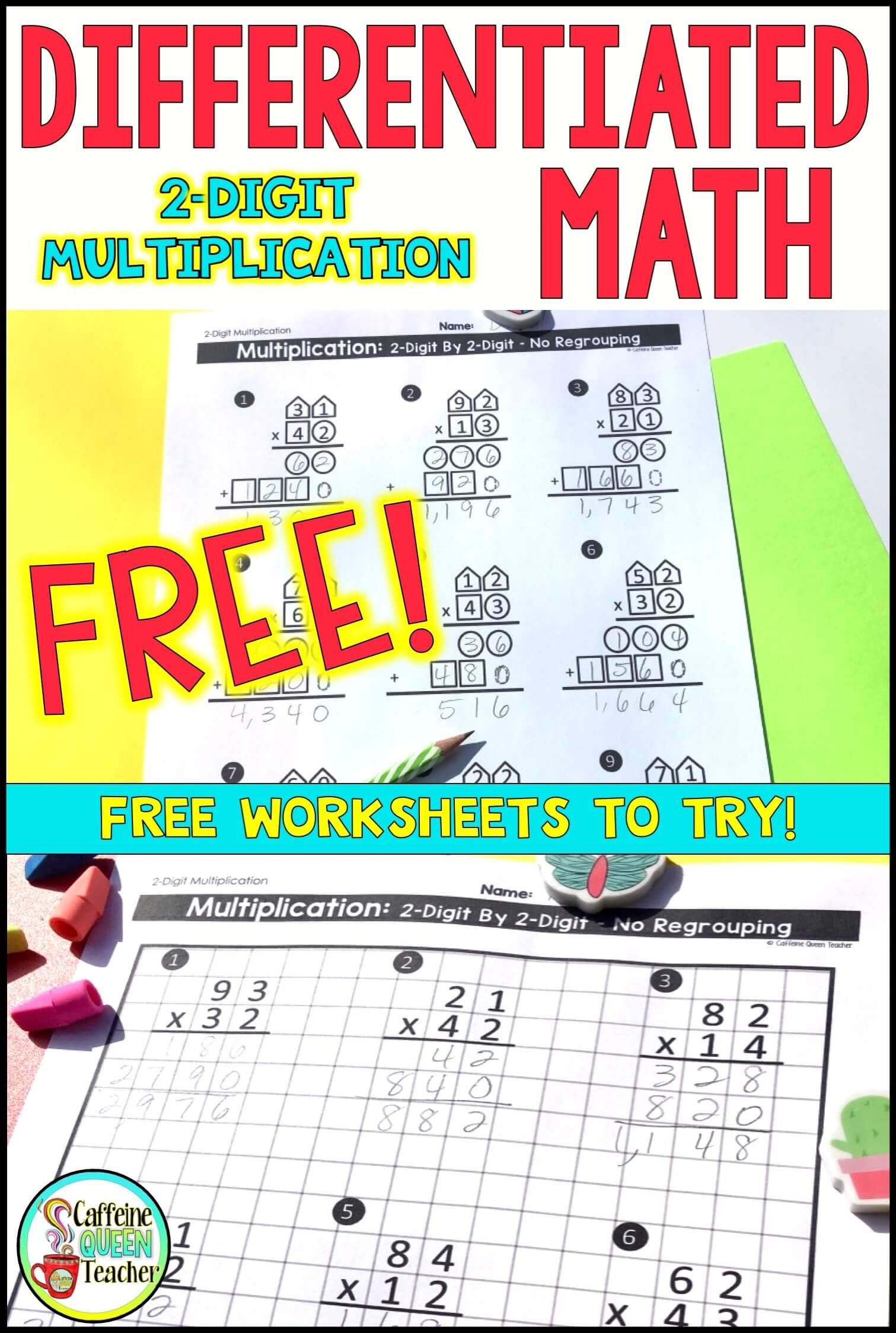 Free New Multi Digit Multiplication Strategy For Students