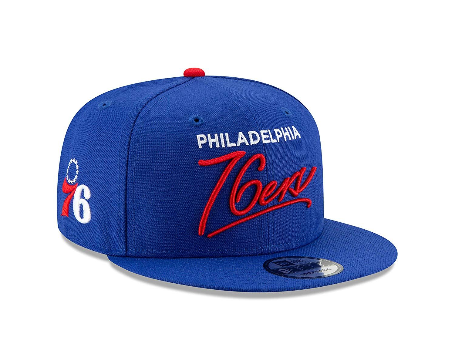 8e343ea4c439c6 New Era Philadelphia 76ers Script Turn Snapback 9FIFTY Adjustable NBA Hat,  $29.95