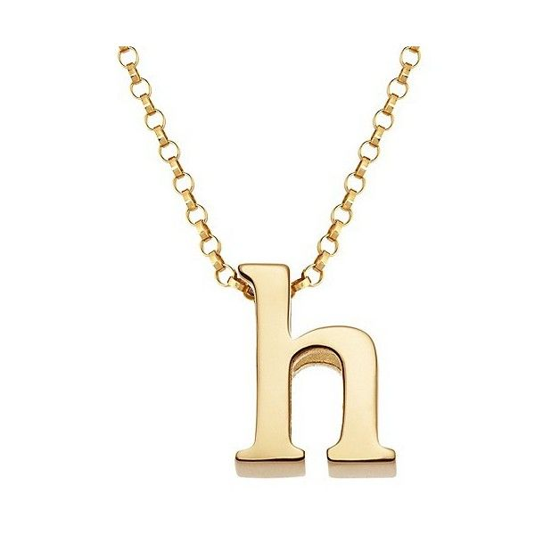 Womens sterling silver h initial charm pendant 30 liked on designer clothes shoes bags for women ssense initial jewelryinitial pendantinitial charmletter aloadofball Images