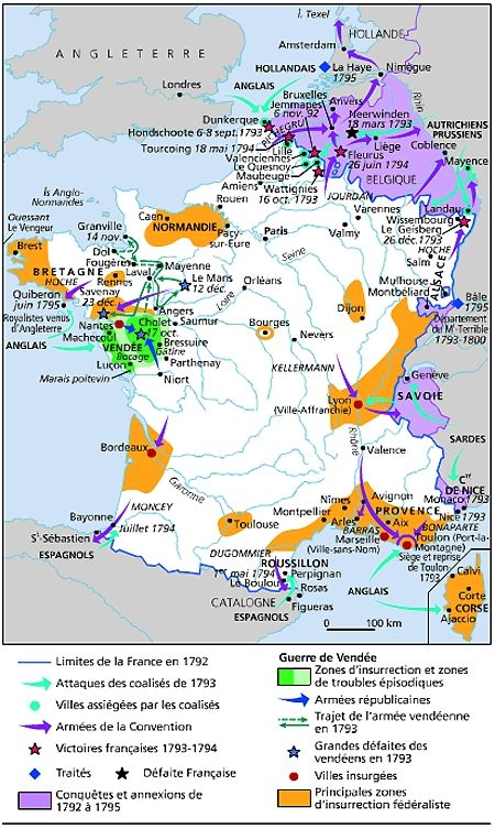 La France Map.France Resistance To The Revolutionary Government Maps France