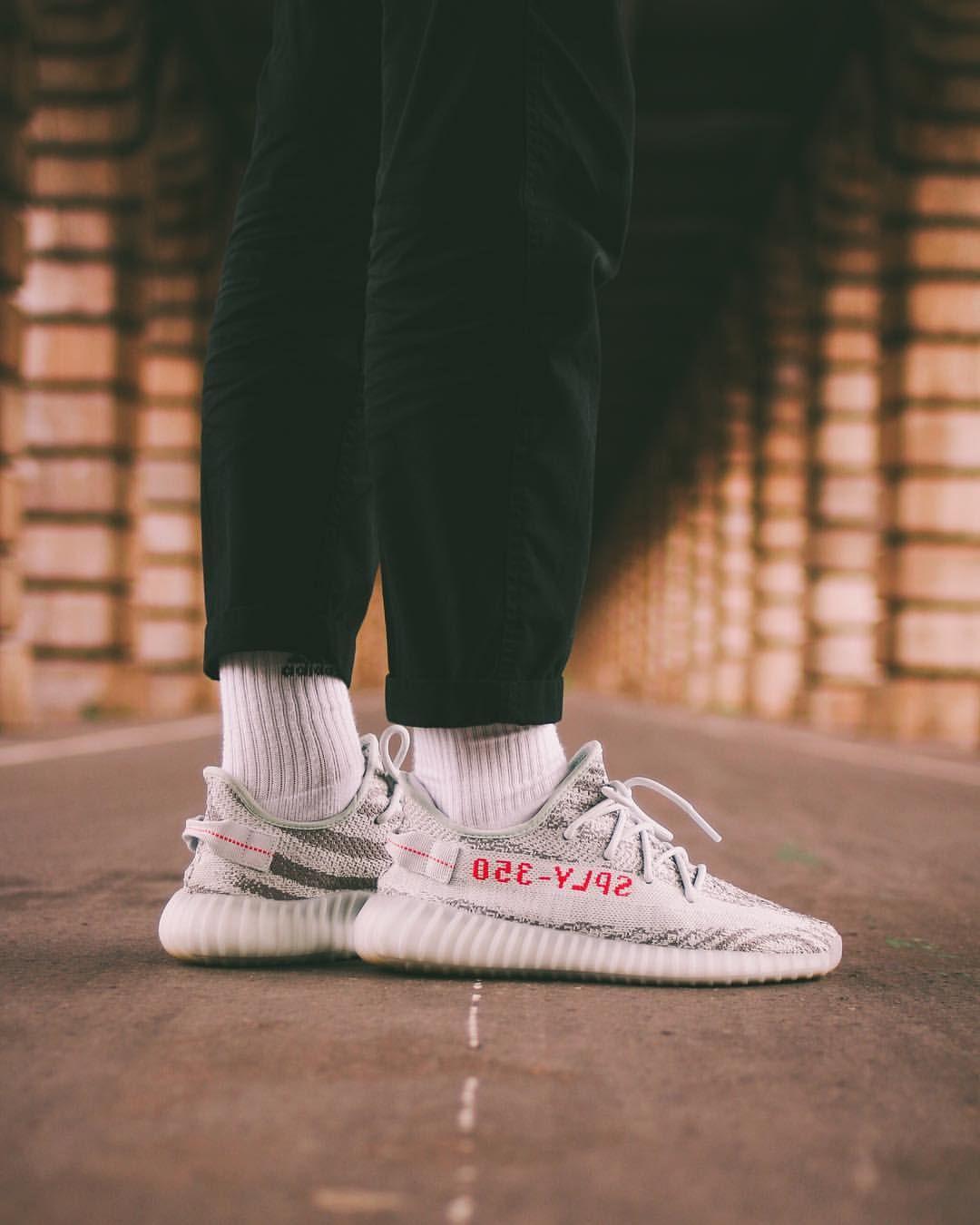 Kanye West X Adidas Yeezy Boost 350 V2 Blue Tint Sneakers Men Fashion Adidas Yeezy Adidas Yeezy Boost