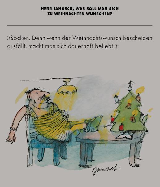 Herr Janosch Was Soll Man Sich Zu Weihnachten Wünschen Janosch