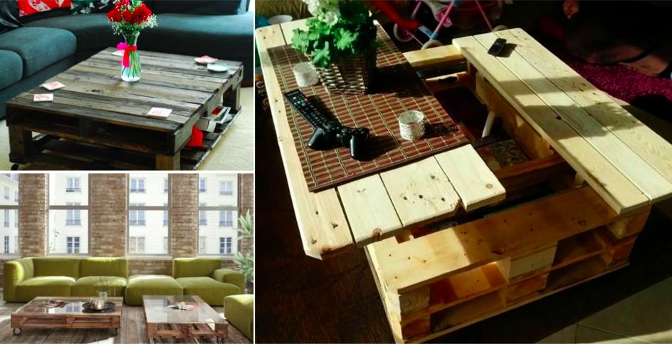 les plus belles tables basses cr es partir de palettes de bois pinterest table basse. Black Bedroom Furniture Sets. Home Design Ideas
