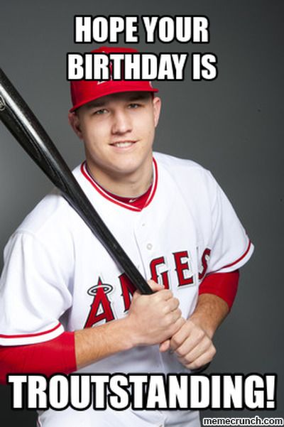Pin By Haydee On Baseball Pinterest Mike Trout Baseball Memes