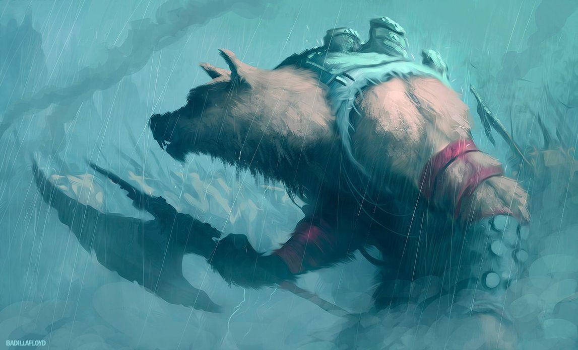 wolf warrior by badillafloyd