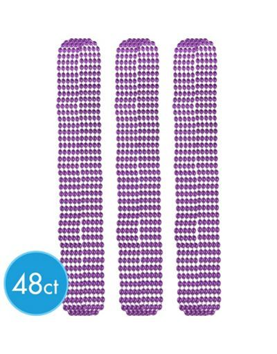 4ct Metallic Black Mardi Gras Beads