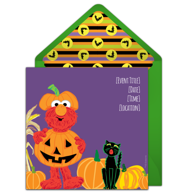 Free Elmo Pumpkin Costume Invitations Pumpkin Carving Halloween