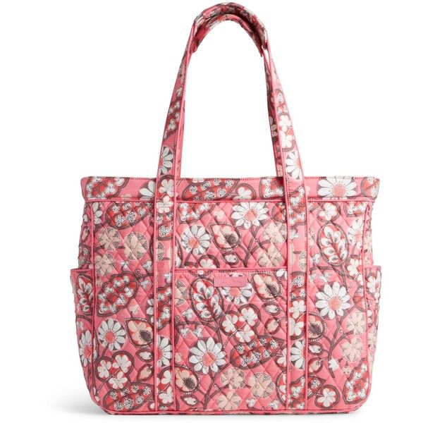Vera Bradley Get Carried Away Tote in Blush Pink ($92) ❤ liked on ...