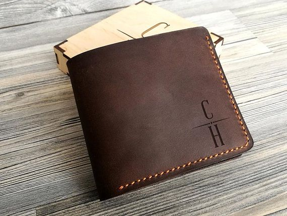 4577cf4af184a Personalized Leather Wallet Mens Leather Wallet Bifold Boyfriend Birthday  Gift for Him Mens Gift Ide
