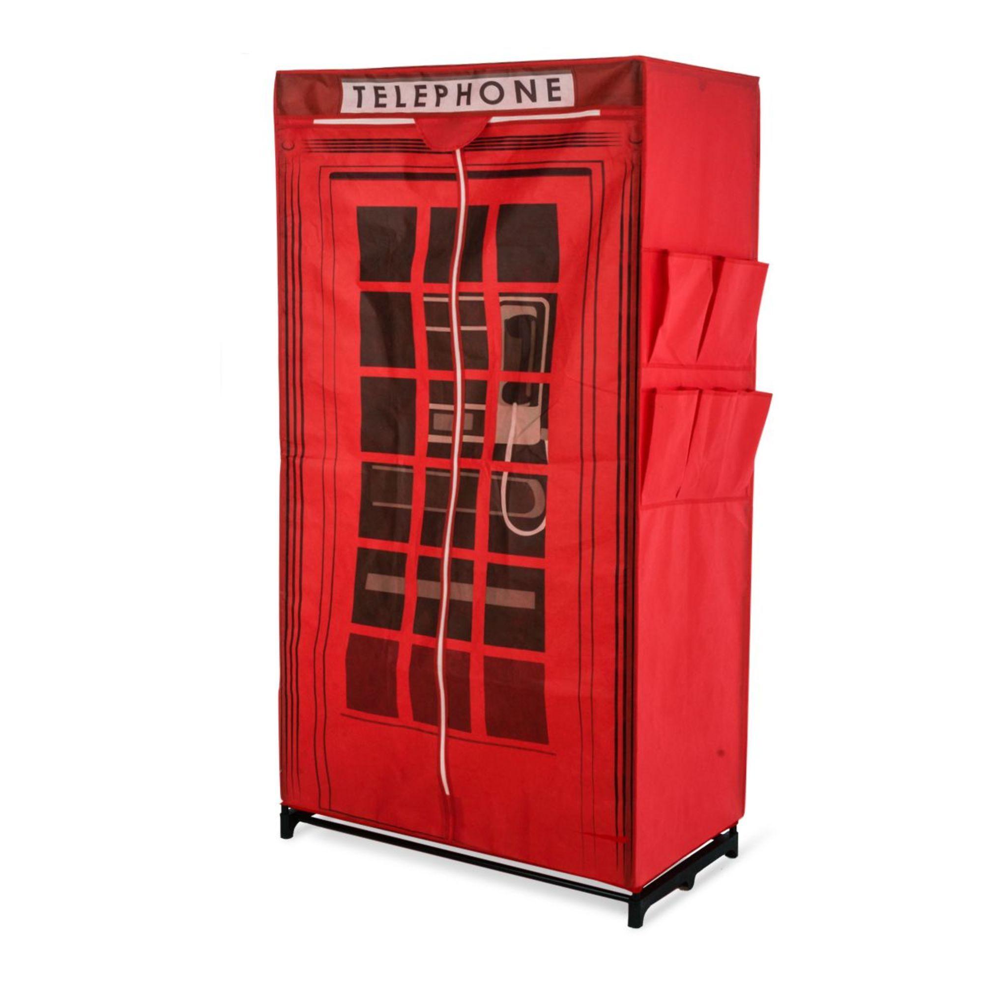 Kleiderschrank aus Stoff Design englische Telefonzelle ...