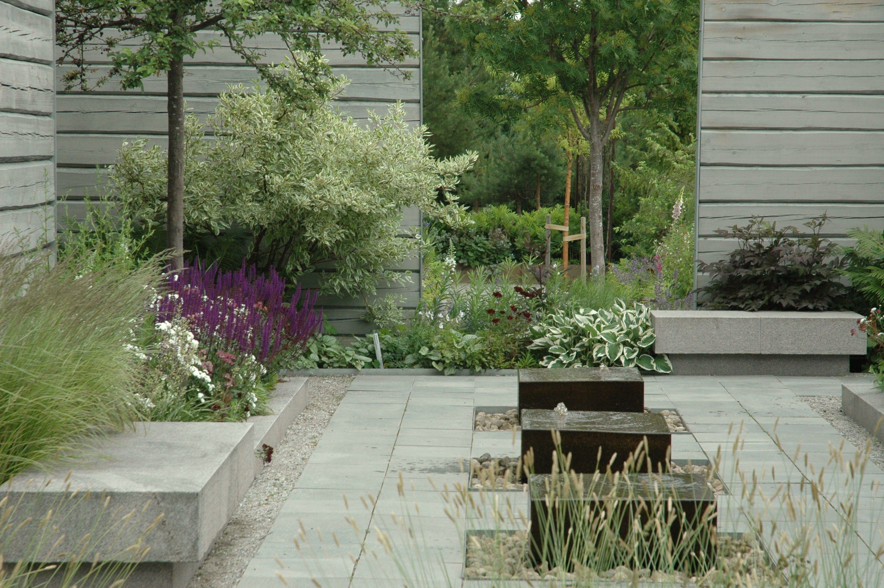 Hard soft simon irvine pinned to garden design by for Soft landscaping ideas