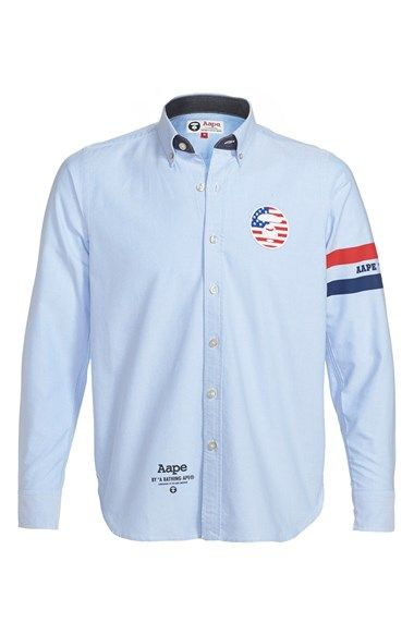 f2121976 Aape by A BATHING APE® Stripe Print Oxford Shirt (Men) available at  #Nordstrom