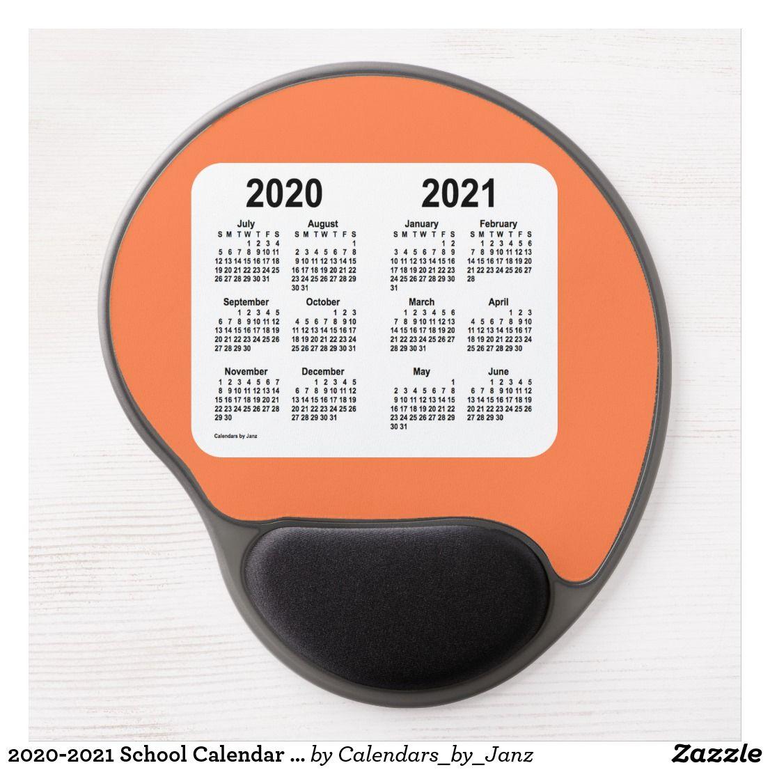 2020-2021 School Calendar by Janz Coral Gel Mouse Pad ...